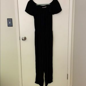 Black jumpsuit by beachgold at Anthropologie